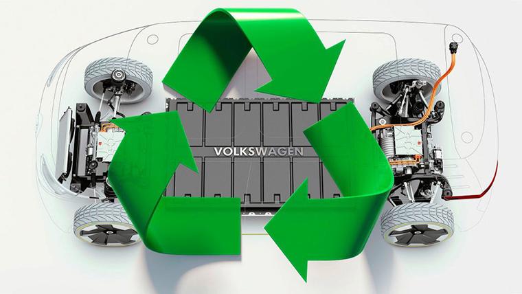 Reciclado de baterías de los VE de Volkswagen