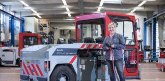 Segunda vida para las baterías de los vehículos eléctricos de Audi en sus centros de producción.
