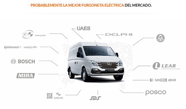 La propia marca indica lo avanzado de la tecnología de la Maxus EV80.