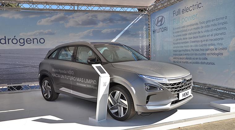 Hyundai Nexo, el único vehículo de pila de combustible que se vende en nuestro país. Foto tomada en VEM 2019.