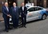 Presidente y CEO de Ford, Jim Hackett, CEO de Argo AI, Bryan Salesky, y CEO de Volkswagen, Dr. Herbert Diess
