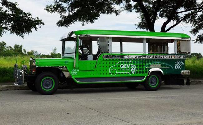 QEV Tech ha desarrollado el Astrokit para los emblemáticos Jeepney de Filipinas.