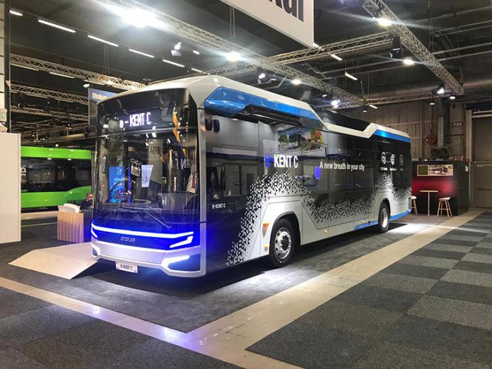 Otocar e-Kent C en la pasada Cumbre Mundial de Transporte Público de Estocolmo.