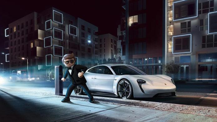 Rex Dasher, el agente secreto que conduce un Porsche Mission E en el film de animación