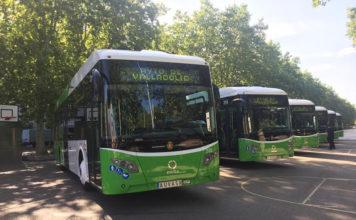 Con estos seis nuevos Veris.12 Partial Electric, la ciudad de Valladolid cuenta ya 17 autobuses Vectia.