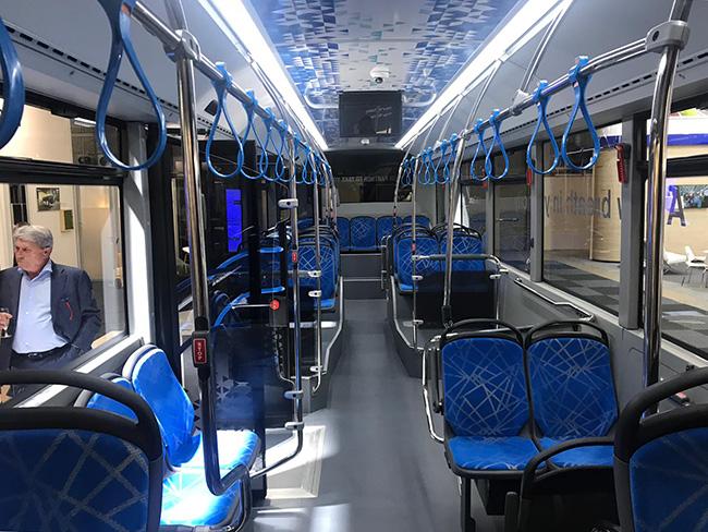 Interior del autobús eléctrico Otokar e-Kent C.