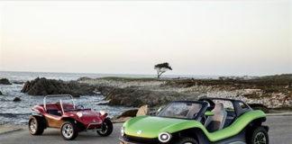 Volkswagen ID.Buggy, muy al estilo playero del vehículos original de los años 60.