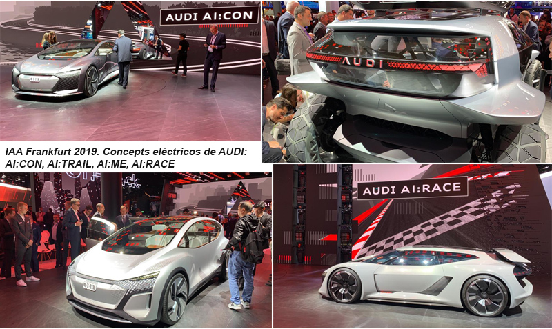 Los cuatro visionarios concept eléctricos de Audi en el AI:TRAIL.