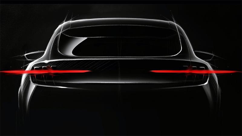 Teaser de Ford sobre el SUV eléctrico que lanzará en 2020.