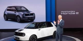 Versión de producción en serie del Honda e. Frankfurt 2019.