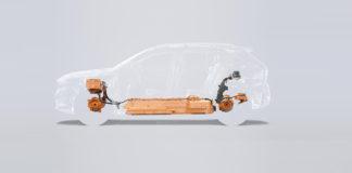 Volvo XC40 SUV eléctrico, el primer vehículo totalmente eléctrico de la marca.