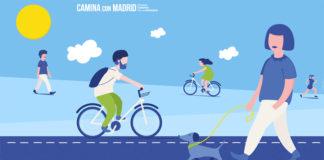 Camina con Madrid, lema de la Semana Europea de la Movilidad en la ciudad.