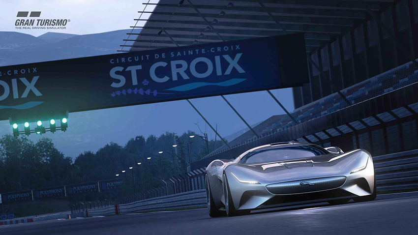 Jaguar Vision Gran Turismo Coupé para Gran Turismo Sport.