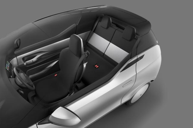 Configuración interior del coche.