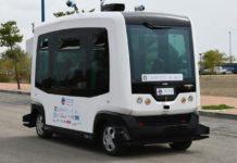 microbús autónomo y eléctrico