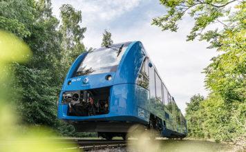 Coradia iLint de hidrógeno, una posible alternativa a las locomotoras diésel en líneas sin electrificar.
