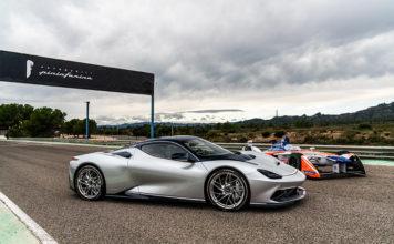 Pininfarina Battista y monoplaza Mahindra Racing Fórmula E.