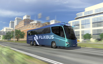 Fuel Cell Electric Bus. FlixBus.