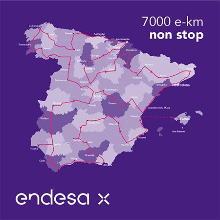 Ruta del e-Reto. 7.000 km en 7 días a bordo de un LEAF e+.