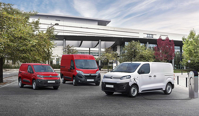 Ofensiva eléctrica para la gama de vehículos comerciales Citroën.