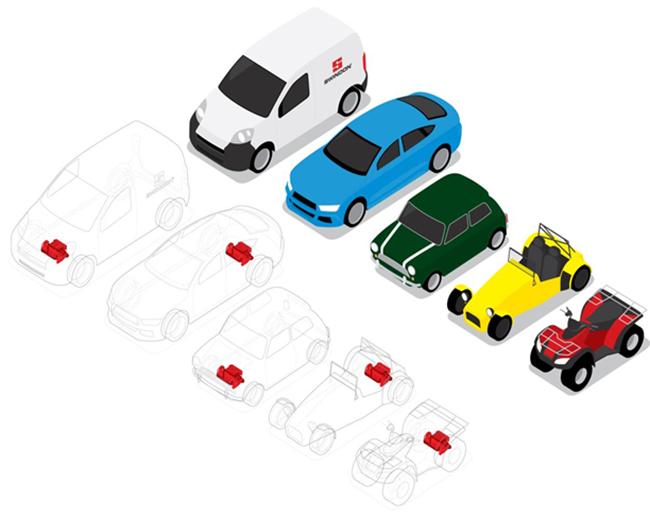 Cualquier vehículo, desde una furgoneta a un quad, pasando por deportivos, clásicos y turismos, pueden convertirse en eléctricos con este sistema.