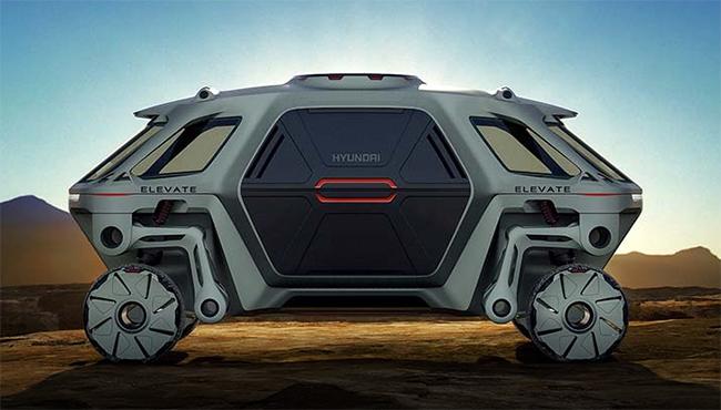 Hyundai presentó en CES 2019, entre otras novedades, el Elevate, un vehículo para labores de rescate.