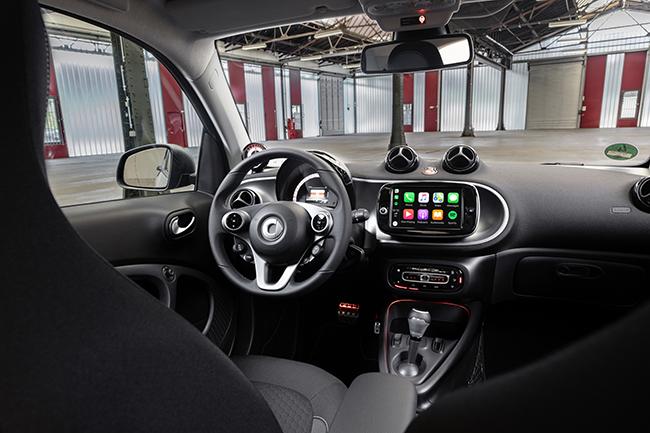 Interior del nuevo smart.