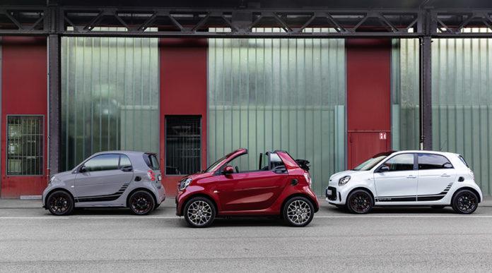 Nuevos smart EQ: EQ fortwo, EQ fortwo cabrio y EQ forfour.