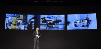 Ceremonia de Año Nuevo de Kia-Hyundai Motor Group a cargo de Euisun Chung, su vicepresidente ejecutivo.