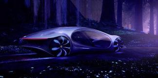 Mercedes-Benz VISION AVTR. CES 2020. Las Vegas.