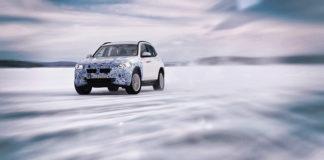 SAV BMW iX3 durante las pruebas de invierno en el Ártico.