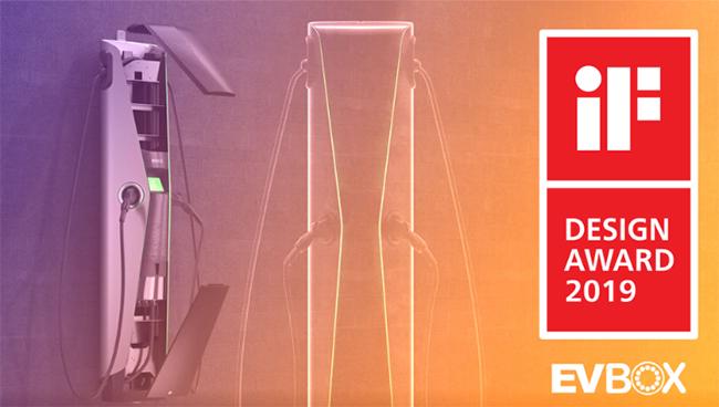 En 2019, la estación de carga EVBox Iqon consiguió varios premios. Entre ellos, el ya citado del CES de Las Vegas, el iF Design Award y el Red Dot Award.