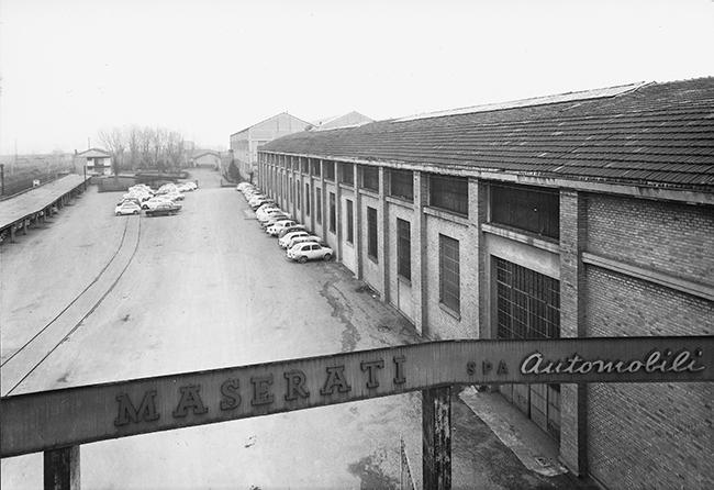 La planta de Módena en 1965. Hoy es, además de la sede de la marca, el lugar donde se investiga y se desarrollan los modelos.