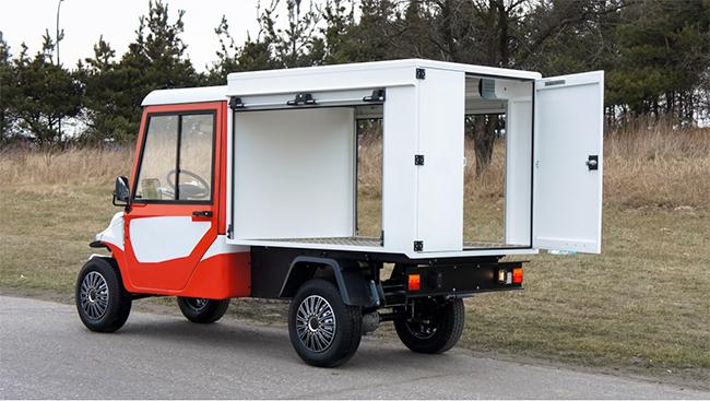 La versatilidad del vehículo eléctrico permite su uso para muy diferentes trabajos.