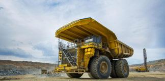 Volquete minero en la mina Mogalakwena de Sudáfrica, que explota Anglo American.