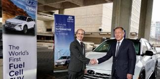 Mark W. Menezes, subsecretario de Energía de EEUU, y Euisun Chung, Vicepresidente Ejecutivo de Hyundai Motor Group.