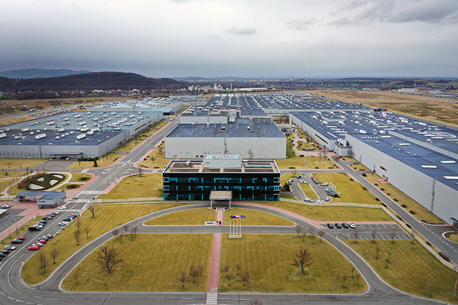 Fábrica de Hyundai en la República Checa.
