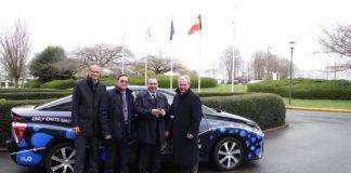 Toyota Mirai de hidrógeno en el Parlamento Europeo.