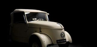 Peugeot VLV, un coche de 2,67 m de largo por 1,21 de ancho y 1,27 de alto, y un único faro.