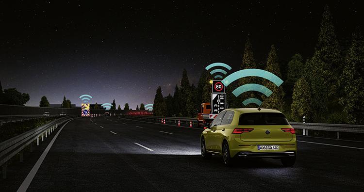 Tecnología Car2X en el nuevo Volkswagen Golf.