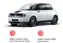 Los premios Red Dot para el Honda e: Best of the Best Car Design y Smart Product.