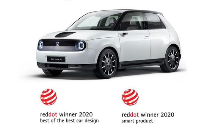 Los premios Red Dot para el Honda e: Best of the Best Car Design y Smart Product.