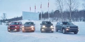 Jeep Renegade y Compass 4xe First Edition llegando al Círculo Polar para acabar sus pruebas.