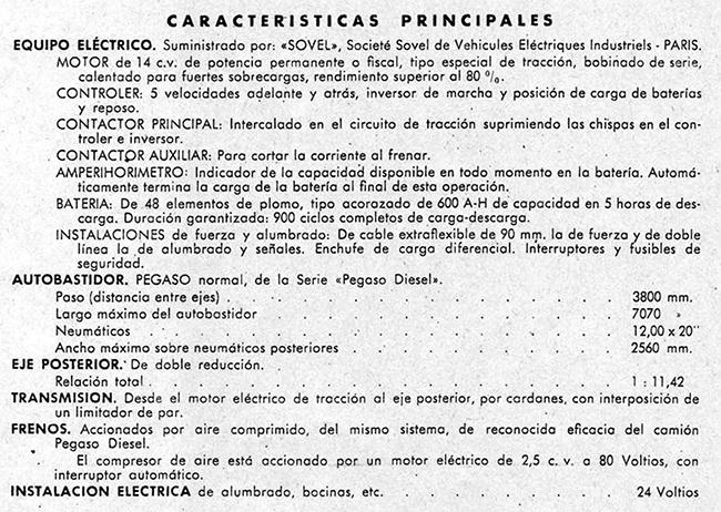 Características del Pegaso Eléctrico. Foto: Pegasoesmicamion.