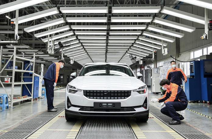 Producción del Polestar 2 en Luqiao.