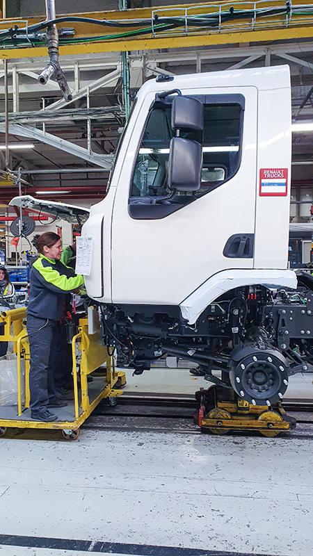 Renault Trucks ha dedicado un espacio específico para producir camiones eléctricos en la planta.