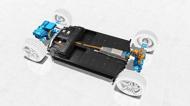 Porsche Taycan. Motores eléctricos.