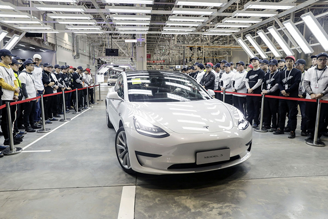 Tesla Shanghái.