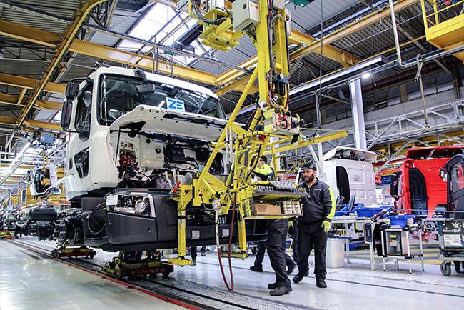 Planta de Renault Trucks en Normandía.