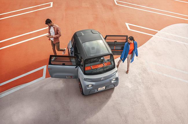 El Ami One expresa una visión diferente e innovadora de la movilidad urbana.